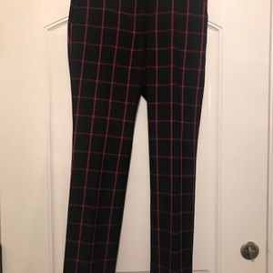 Red and black pants